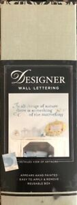 "Once Upon A Wall Classic Designer Wall 27x7"" Black Letters All Things Of Nature"