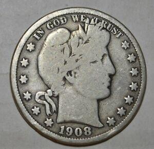 1908 D BARBER half dollar 5413