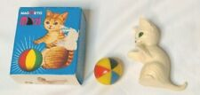Vintage Magnetic Magneto Mizzi Cat With Ball Toy West Germany Original Box 1970s