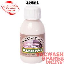 RENOVO PLASTIC WINDOW POLISH 100ML - REMOVES & CLEARS CLOUDY CONVERTIBLE WINDOWS