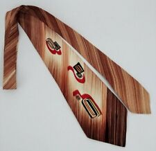Vintage Ca Artist Guild Rayon Men's Neck Tie 40's Rockabilly Dapper Geometric