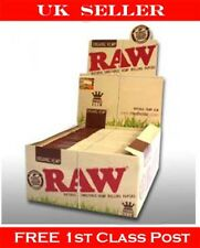 Full Box Raw Organic King Size Natural Slim Cigarette Papers 50 Pack