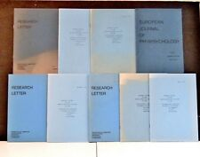 8 issues RESEARCH LETTER OF THE PARAPSYCHOLOGICAL Utrecht Lab University 1971-84