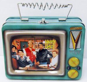 VANDOR TIN TOTE TV TELEVISION LUNCHBOX HAPPY DAYS FONZIE CHACHI POTSIE RICHIE