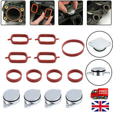 4X Swirl Flap Blanks Repair Kit 22 mm Manifold with Gaskets for  BMW 320d 330d