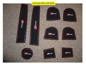 AUDI Q5 HIGH LINE 2010 - 2015  INTERIOR DASHBOARD MAT GATE PAD TRIM SET - S LINE