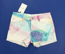 Iro jeans shorts donna blenda nuovo w26 tg 40 pink azzurro luxury sexy hot T3884