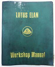 Lotus Elan Original Loose Leaf Factory Workshop / Service Manual, 36T327