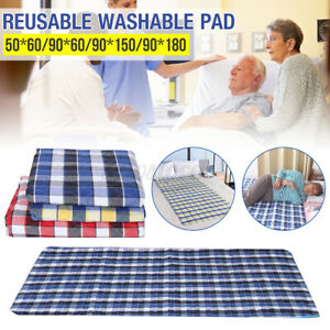 Waterproof Incontinence Bed Urine Pad Sheet Mattress Reusable Washable  zz