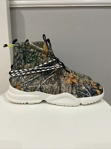 John Geiger 002 Sneakers Size 15 Tree Camo/Lime/ White NEW WITHOUT BOX