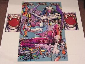 (11) RUNE #0 installments PUZZLE Ultraverse BARRY WINDSOR-SMITH Malibu Comics