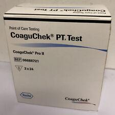 Coaguchek Pro II PT Test Strips 2 x 24 - Brand New. Expiry Date 31/08/21 🌟🌟