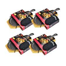 Jim Beam® BBQ Gusseiserne Grillpfanne 4-er Set Gusspfanne Grillen Pfanne