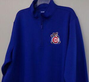 Chicago Cubs MLB Baseball 1970 Logo Mens 1/4 Zip Pullover XS-4XL, LT-4XLT New