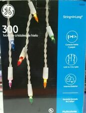 GE String-A-Long 300-Light Multi-Color Icicle Light Set (1)