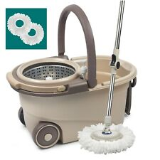 Stainless Steel 360 Easy Spin Mop&Bucket Floor Cleaning System Extended Handle