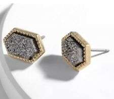 Gold & Gray Drusy Studs Earrings  Kendra + Chloe  Design by Isabel J. Scott
