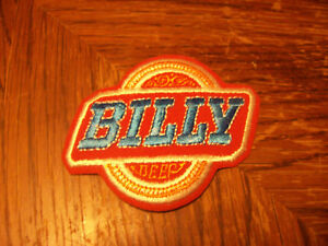 RARE VINTAGE BILLY BEER EMBROIDERED PATCH 1970's PRESIDENT JIMMY CARTER'S BRO