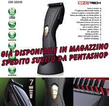 Taglia capelli elettrico A BATTERIA rasoio ricaricabile lame di acciaio 7 misure