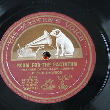 """78rpm 12"""" PETER DAWSON room for the factotum / sirs yourtoast - toreador song"""