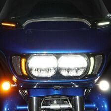 Custom Dynamics Black Vent Insert w/ LED Lights Harley Road Glide FLTR 15-20