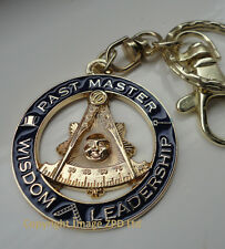 ZP306 Masonic Masons Keyring PAST MASTER Freemason Superb Detail Wisdom