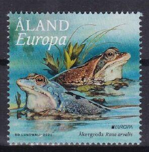 FINLAND ALAND 2021 EUROPA CEPT NATIONAL BIRDS .SET 3 ST  SELFADHESIV
