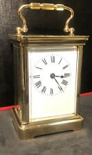 Vintage Duverdrey & Bloquel Carriage Clock. Fully Restored, 24 Carat Gold Plated