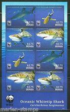 """GRENADA 2014 """"WWF - OCEANIC WHITETIP SHARK"""" SHEET OF EIGHT STAMPS"""