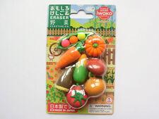 Iwako Japanese Eraser Blister Set - Vegetables Assortment