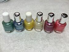 Lot of 6 'Mini' Art Nail Polish Colors (Blu/Grn/Ylw/Pur/Wht/Pnk) Small brush/bot