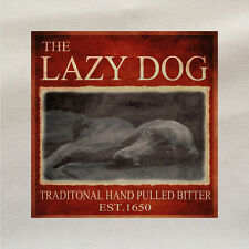 The lazy Dog - Fabric Panel Make Cushion Upholstery Craft Cotton