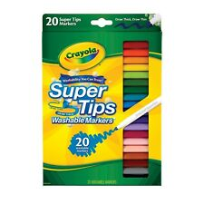 Crayola 20 Super Tips | Washable Assorted Colour | Arts Nontoxic Markers Pen
