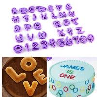 New Alphabet Letter & Number Fondant Sugarcraft Cutter Cake Decorating Mould