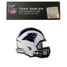New NFL Carolina Panthers Color Aluminum Helmet 3-D Auto Emblem Sticker Decal