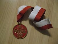Coca Cola Sports Medal - Coke Soda Pop Gold Athlete Competition Medallion Ribbon