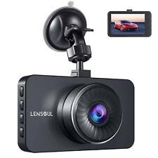"""Lensoul Dash Cam Dashboard Cam Full HD 1080P Car Camera Recorder 3"""" LCD with WDR"""