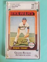 1975 Topps RC Robin Yount #223 Graded Rookies Authenticated Gem Mint 10