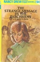Nancy Drew 54: The Strange Message in the Parchment by Keene, Carolyn