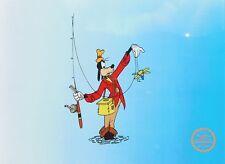 Disney Original Animation Art Cel Goofy How to Fish