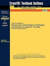 Studyguide for Measurement and Evaluation in Psychology and Education by Thornd