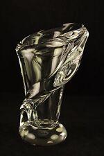 """Vtg Cristal de Sevres Elegant Swirl Fiume Collection 7"""" Vase Crystal France"""