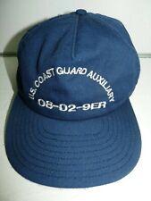 Us Coast Guard Auxiliary Snapback Cap Hat Navy Blue 08-02 9Er District