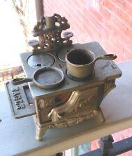 Vintage Eagle Cast Iron Stove 4 Burner Pot Pan Complete Antique