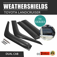 Weathershields For Toyota Landcruiser 70 76 78 79 Series Window Visors Dual Cab