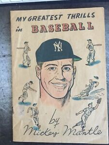 Mickey Mantle 1957 My Greatest Thrills In Baseball Original Comic Book EX COND.