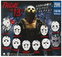 TAKARA TOMY ARTS Friday the 13th Pin Badge All 10 (type) set Gashapon toys