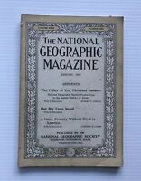 National Geographic Magazine - January 1917- The Valley Of Ten Thousand Smokes