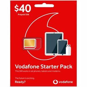 Vodafone Pre-Paid Starter Pack $30 $40 Trio SIM Card NEW