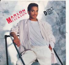 MARLON JACKSON Don't Go / Don't Go 45 rpm (Promo DJ) + Picture Sleeve NM